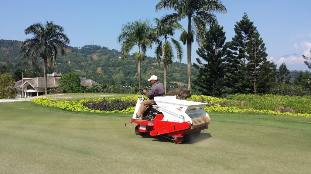 Sand topdressing for tatch control